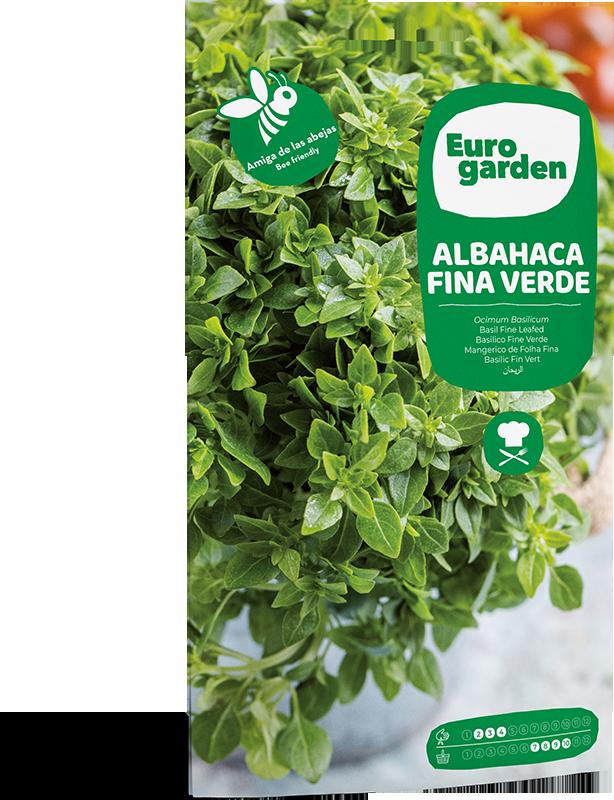 Mockup Sobre Eurogarden Aromáticas Albahaca Fina Verde