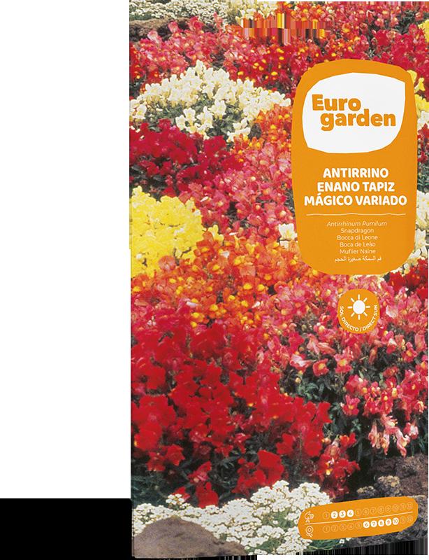 Mockup Sobre Individual Eurogarden Flores Antirrino Enano Tapiz Mágico Variado