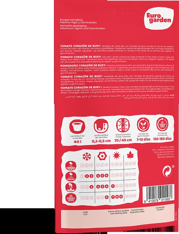 Mockup Reverso Sobre Individual Eurogarden Hortícolas Tomate Corazón de Buey
